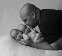 Cute Father and Twins newborn photographer Brisbane